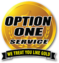 Option One Plumbing Logo